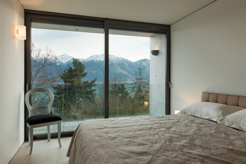 Modern architecture, nice apartment, comfortable bedroom